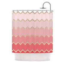 Kess Shower Curtains Avalon Coral Ombre Shower Curtain By Monika Strigel Kess Inhouse