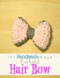 crochet hair bows 101 handmade days crocheted hair bows busy being