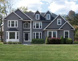 dark gray siding with white trim siding colors make your