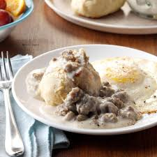 drop biscuits and gravy recipe taste of home