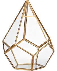 deal alert small gold teardrop geometric terrarium