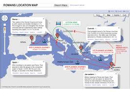 New Testament Map Romans Map Visual Unit