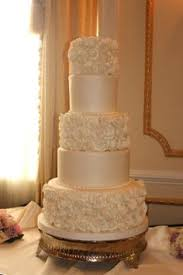 classic white american style wedding cake on the french riviera