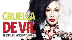 special fx makeup disney horror cruella de vil special fx makeup tutorial