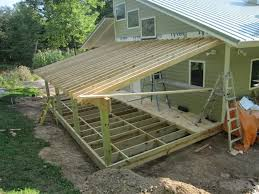 Southeastern Underdeck Systems by Nice Roof Under Deck 2 Framing Addition Shed Roof House
