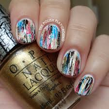 the polish playground shatter distressed nails