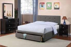 Full Size Platform Bedroom Sets Poundex Associates Item F9330q Queen Size Platform Bed Frame