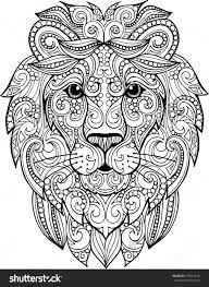 Home Design Doodle Book by Hand Drawn Doodle Zentangle Lion Illustration Decorative Ornate