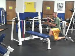 Life Fitness Bench Press Bar Weight Barbell Bench Press With Resistance Bands Youtube