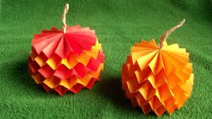 how to make a 3d easy pumpkin out of paper for fall
