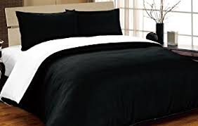 Black Duvet Covers Complete Double Reversible Black White Duvet Cover And Fitted