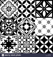 moroccan tile spanish tiles moroccan tiles design seamless black pattern stock