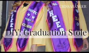 customized graduation stoles graduation diy stole crissabanger