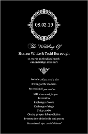 black and white wedding programs black and white monogram wedding program wedding programs