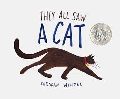 amazon com they all saw a cat 9781452150130 brendan wenzel books