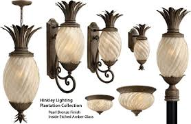 hinkley plantation pineapple outdoor collection brand lighting