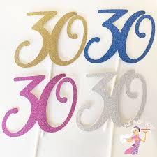 30 cake topper glitter 30 cake topper iced jems shop