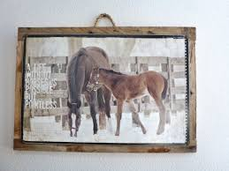 life without horses vintage metal print something promised