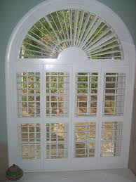 arch window blinds decoration