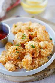 Fried Parmesan Parmesan Baked Popcorn Shrimp Easy Delicious Recipes