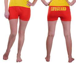 ladies womens lifeguard shorts ladies beach party life savor fancy