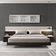 walnut platform bed with nightstands platform bed with