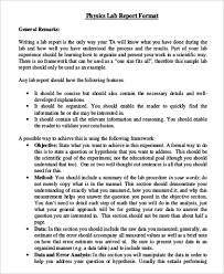 lab report conclusion template report exles