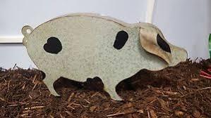 metal pig garden ornament ebay