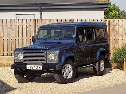 blue station wagon used blue land rover defender for sale wiltshire