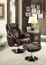 Recliner Chair With Ottoman Homelegance Aleron Swivel Reclining Chair With Ottoman Dark