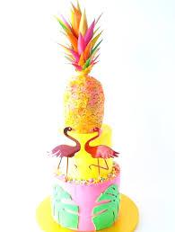 Tropical Theme Birthday Cake - xoxo design u2014 flamingo love birthday wedding cake topper