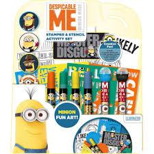 Minion Desk Accessories by Disney Despicable Me Minions Stamper U0026 Stencil Set Staples