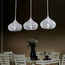 Kitchen Island Chandelier Lighting Dinggu Chrome Finish Modern 3 Lights Crystal Chandelier Pendant