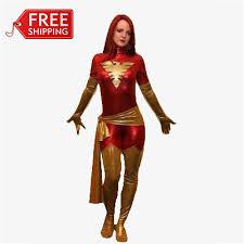 Supergirl Halloween Costumes Men Red Phoenix Cosplay Costume Halloween Costumes Women