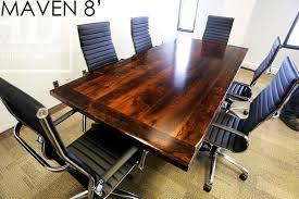 Custom Boardroom Tables Reclaimed Wood Table With Metal Base In Waterloo Boardroom Blog