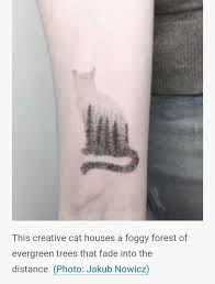 cat silhouette tattoo outline pictures to pin on pinterest