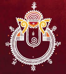 Warli Art Simple Designs Rangoli Hindustani Pinterest Ganesha Ganesh And Folk Art