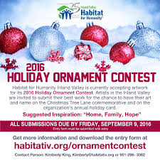 call to artists 2016 holiday ornament contest submissions being