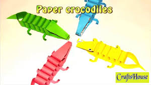 diy arts and crafts for kid simple craft crocodile paper art for
