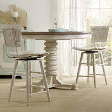 Cottage Dining Room Sets Casual Cottage Coastal 3 Piece Pub Table Set With Spool Pedestal
