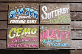 ornamental conifer signs and lettering inspiration
