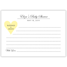baby shower advice cards polished choose your color baby shower advice cards paperstyle
