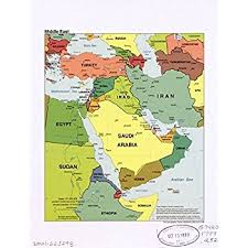 mid east map large middle east wall map political