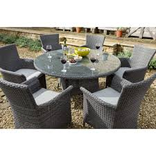 6 seater outdoor dining table hartman casa 6 seater outdoor dining set slate stone leek