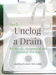easy way to unclog a kitchen sink how to unclog a kitchen sink the simple inexpensive and chemical