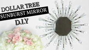 Home Decor Mirrors 4 Dollar Tree Sunburst Glam Mirror D I Y Youtube Diy Home