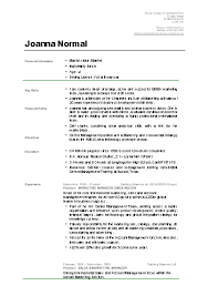 student cv 5 format of a cv for a student graphic resume