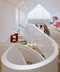 vitra workspace vitra office showroom and experimental laboratory staircase view in vitra house architecture modern houses