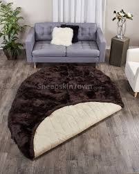 Sheepskin Area Rugs Oval Shape Brown Sheepskin Area Rug Sheepskin Town 6x9 Area