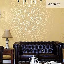 10mx53cm wallpaper rolls silver golden apricot luxury embossed
